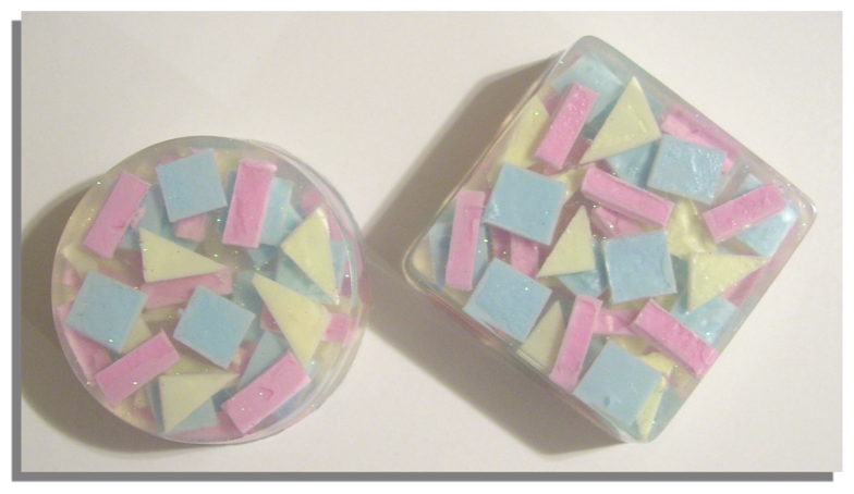 DELIGHTFUL PAIR OF CONFETTI BARS