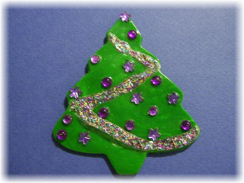 Polymer Clay Christmas Tree Decorations.Polymer Clay Christmas Ornament Creations