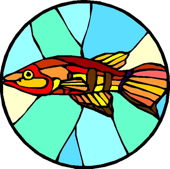 Stained Glass Clip Art : Include your business name and location